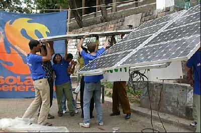 Auf dem Solarfest für die Renewables 2004