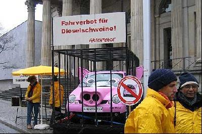 Fahrverbot für Dieselschweine gefördert