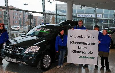 Mercedes Benz: Klassenletzter beim Klimaschutz