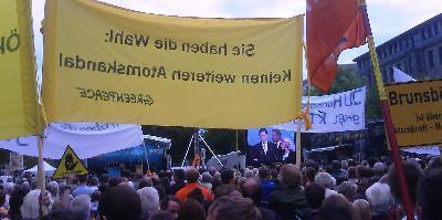 Greenpeace-Protest gegen Atompolitik der CDU/CSU