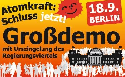 Bundesweite Anti-Atom-Demo in Berlin