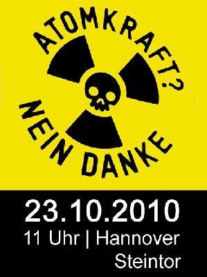 Sei dabei: Am 23.10. in Hannover gegen Atomkraft!