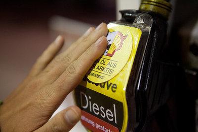 Greenpeace-Aktivisten protestieren gegen Start der Shell-Ölbohrung