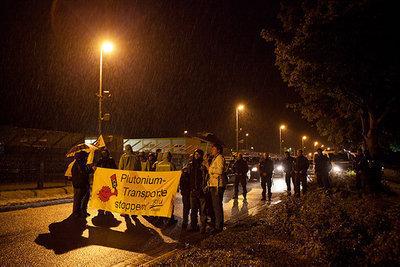 Protest gegen Plutonium-Transport am AKW Grohnde