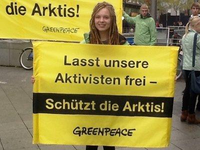 """Global day of solidarity """"FreeTheArctic30"""""""