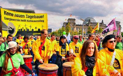 Energiewende-Protest zu Land & Wasser