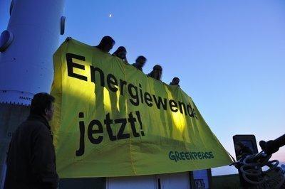 Leuchtender Protest für die Energiewende