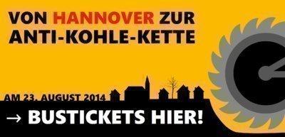 Von Hannover zur Anti-Kohle-Kette