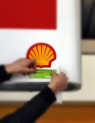 Protest gegen Shell's Ölbohrungen in der Arktis