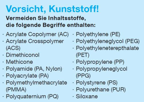 Kein Mikroplastik in die Meere!