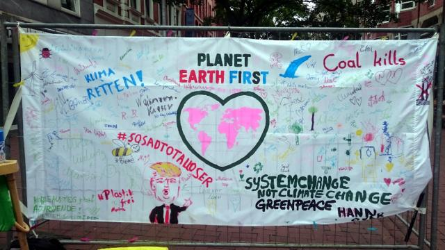 "Hannoveraner fordern von G20: ""Planet Earth First!"""