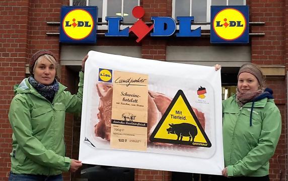 Protestaktion für bessere Tierhaltung