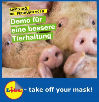 """ABGESAGT: Demo """"Tierschutz statt Billigfleisch"""" am 03.02.2018"""