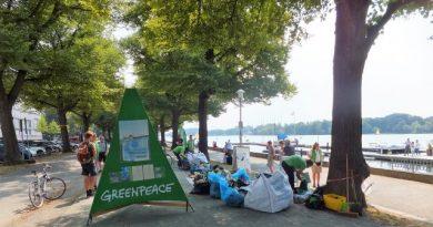 Fangfrisch aus Hannover – Greenpeace in nasser Mission