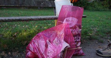 Retrospektive Müllsammelaktion mit Helden e.V.