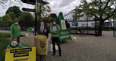 Greenpeace Hannover fordert giftiges EU-Mercosur-Handelsabkommen zu stoppen